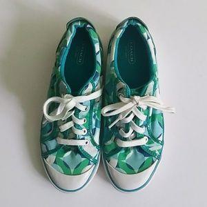 Coach Barrett tennis canvas sneakers shoes